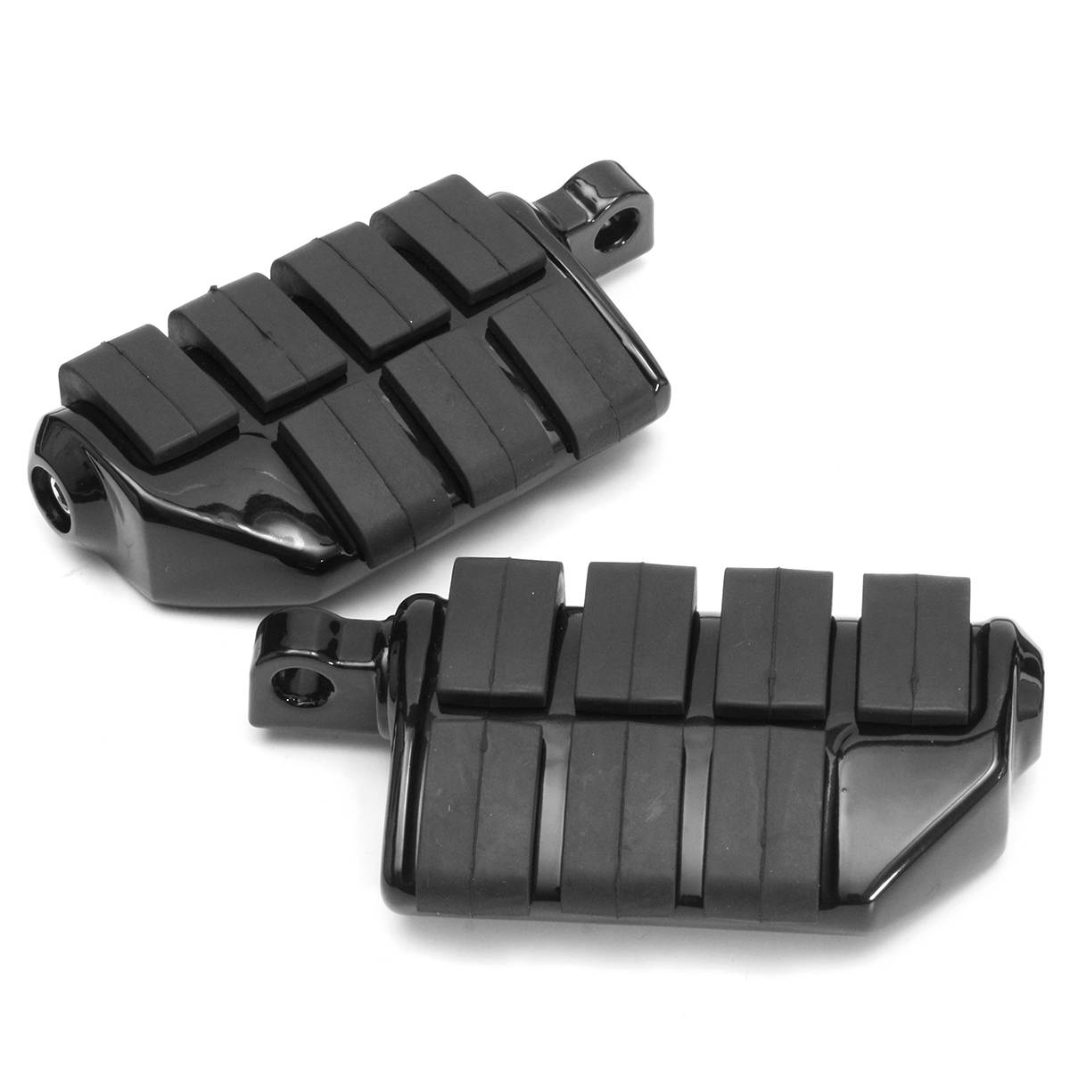 Pair For Harley SOFTAIL FXST, DYNA, FXWG, FXR, XL for Yamaha for Honda Male Mount Motorcycle Rubber Footrest Footpegs Floorboard