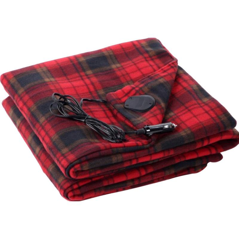 150*115cm Velvet Energy Saving Warm 12v Car Heating Blanket Autumn And Winter Electric Blanket For Autumn And Winter Seasons