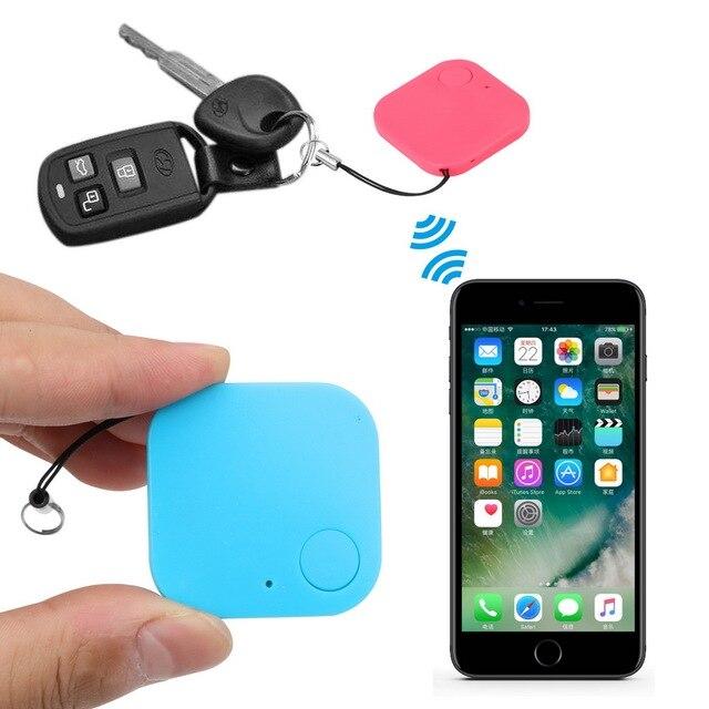 Mini Bluetooth GPS Tracker Key Locator Kids Pets Wallet Keys Anti-lost Alarm Keychain Car Keyring