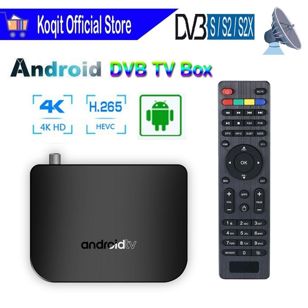 Quad Core Android Boîte De TÉLÉVISION Numérique M8S PLUS DVB-S2X DVB-S2 Satellite Récepteur Tuner Wifi Lecteur Multimédia Iptv H.265 4K Décodeur