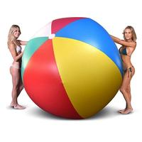 180cm/100cm/150cm Giant Inflatable Beach Ball Colorful Volleyball Adult Children Outdoor Ball Family Garden Lawn Beach Party Toy