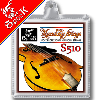 Spock S510 Mandolin Strings Silver Plated Copper Wound 8pcs/1set Mandolin Strings Plated Steel Core image