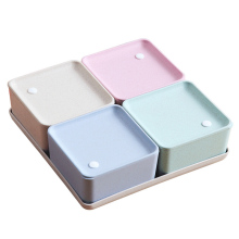 KSFS Food Container Dry Fruits Snacks Storage Box Leak Proof Wheat Straw Plastic Container Kitchen Organizer