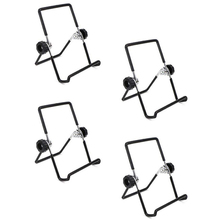 4PCS Mason Jar Seed Sprouting Lid Stands metal Sprouting Jar Stand Phone iPad Tablet Stand - S (Black)