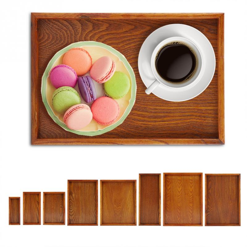 1X Wood Serving Desserts Tea Coffee Snacks Drinks Tray High Quality Durable