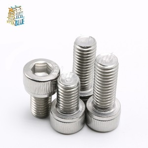 10pcs 1/4-28*3/8 1/2 Inch Length 304 Stainless Steel US UNC Coarse Thread Allen Head Screw Cap Hex Hexagon Socket Bolt(China)