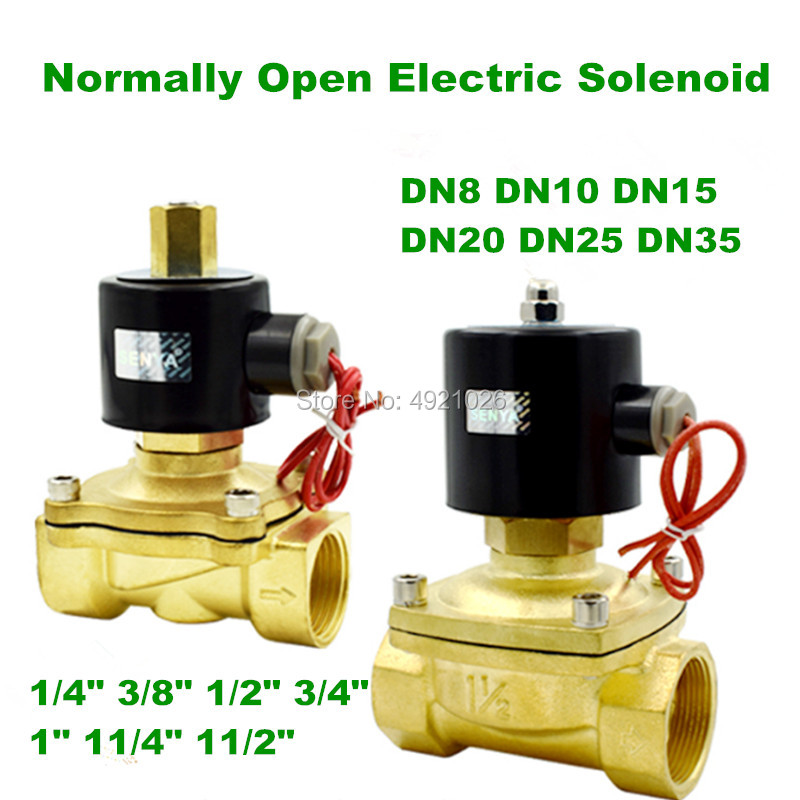 Normally Open Electric Solenoid Valve Water Air N O 2 Way 1 4 3 8 1