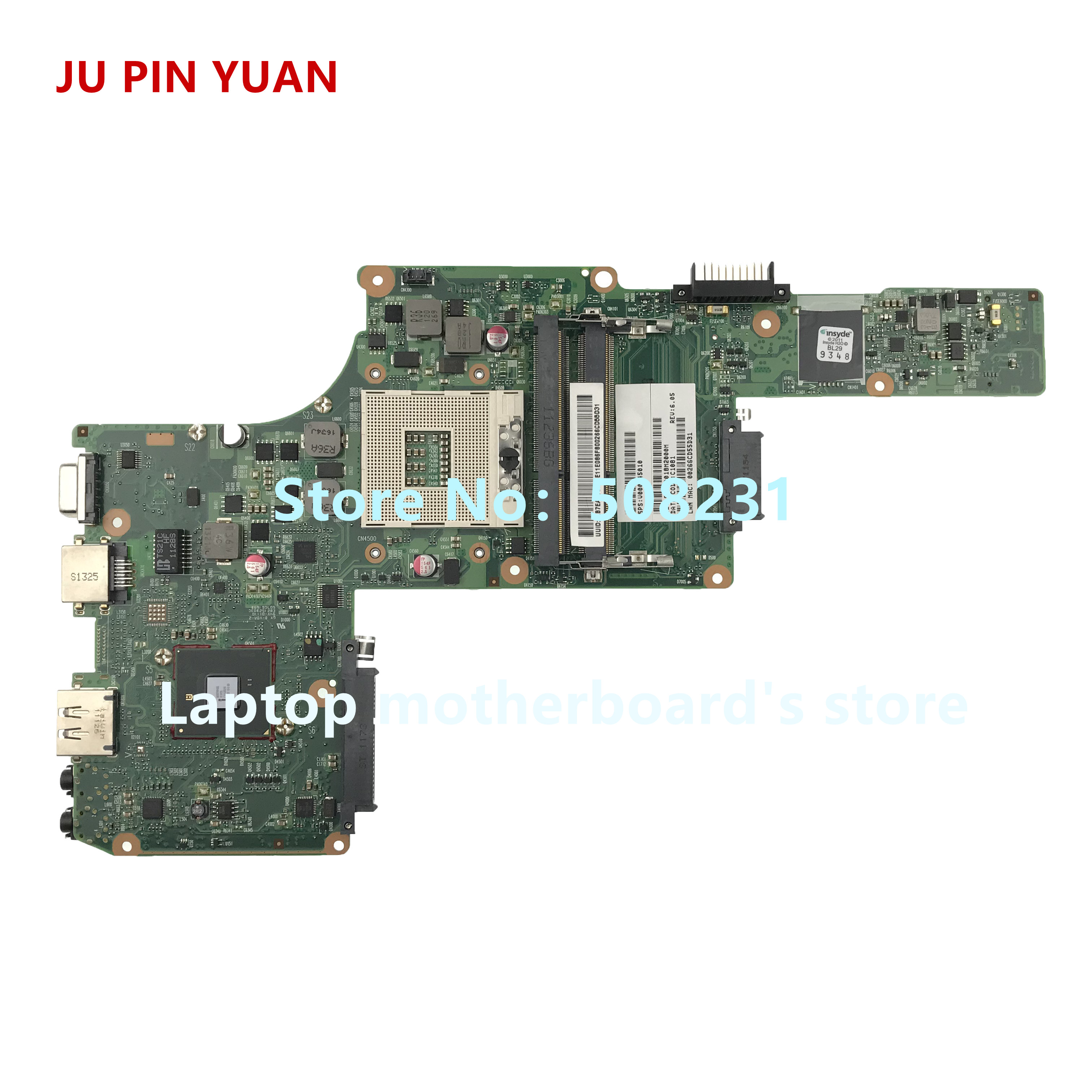 JU PIN YUAN V000245010 6050A2338401-MB-A02 mainboard For <font><b>toshiba</b></font> FOR satellite L630 <font><b>L635</b></font> Laptop <font><b>Motherboard</b></font> fully Tested image