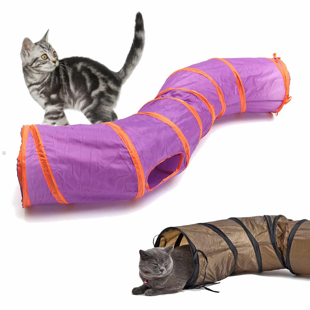 Домашняя забавная игрушка Складная S Форма туннель для кошек игровые трубки шарики Crinkle дизайн дома игрушки Щенок кролик играть собака Туннель трубы