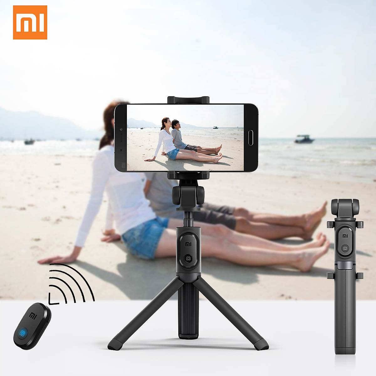 Original Xiaomi 2in1 Selfie Stick Bluetooth Remote Control Monopod Holder Tripod Universal For Android 4.3 / IOS 5.0 And Latast
