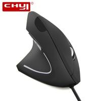 O rato vertical ergonômico do computador de chyi prendeu o jogo 5d ótico ótico de usb do gamer 800/1200/1600 dpi dos ratos da mão esquerda para o computador portátil