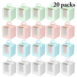 Симпатичная мини-печенье, коробка для конфет, одиночная коробка для кексов, портативная розовая коробка для кексов, мусс, бутылка для пудинг...