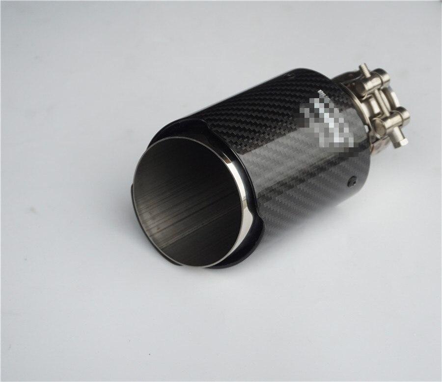 Автомобильный Стайлинг на входе 54 мм на выходе 89 мм Akrapovi c наконечник глушителя из углерода