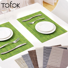 Tofok PVC Dining Table Placemat Europe Style Pad Coffee Mat Insulation Bowl Coaster Tableware Dinnerware Bar Kitchen Accessories dining table placemat tea coaster cute zodiac pattern melamine insulation placemat coaster cup bowl coffee pad tableware pad hot