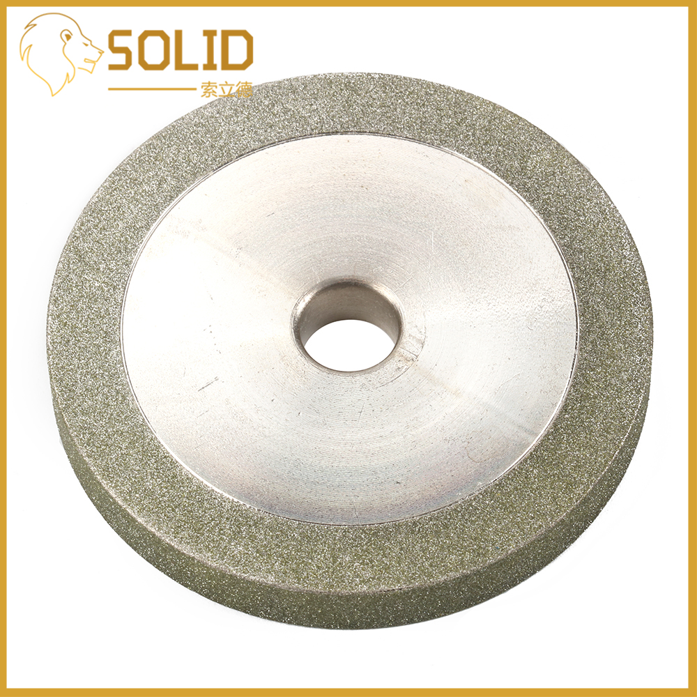 Diamond Grinding Wheel 78x12.7x10mm Flat Shape Abrasive Grinder Tool for Carbide Milling Cutter Power Tool 3Inch 150Grit
