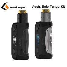 100% Original GeekVape auspicios Solo Tengu Kit de cigarrillo electrónico caja Mod Vape 100 W con Tengu RDA E Cigs Vape Kit