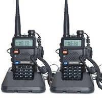 2 pièces Baofeng UV-5R talkie-walkie 128 double bande UHF & VHF 136-174MHz & 400-520MHz Baofeng UV 5R Radio Portable 5W Radio bidirectionnelle