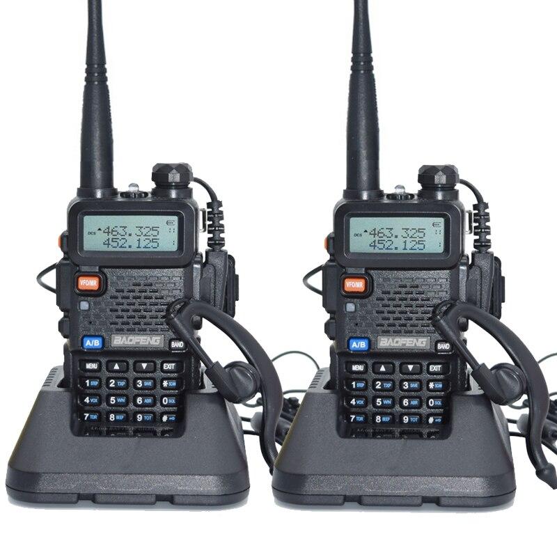 2 pz Baofeng UV-5R Walkie Talkie 128 Dual Band UHF e VHF 136-174 mhz e 400-520 mhz Baofeng UV 5R Radio Portatile 5 w Radio Bidirezionale