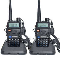 2 stücke Baofeng UV-5R Walkie Talkie 128 Dual Band UHF & VHF 136-174MHz & 400-520MHz Baofeng UV 5R Tragbare Radio 5W Two Way Radio