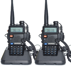 2pcs Baofeng UV-5R Walkie Talkie 128 Dual Band UHF&VHF 136-174MHz & 400-520MHz Baofeng UV 5R Portable Radio 5W Two Way Radio
