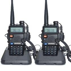 2pcs Baofeng UV-5R Walkie Talkie 128 Dual Band UHF e VHF 136-174MHz e 400-520MHz Baofeng UV 5R Radio Portatile 5W Radio Bidirezionale