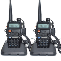 2pcs Baofeng UV 5R Walkie Talkie 128 Dual Band UHF&VHF 136 174MHz & 400 520MHz Baofeng UV 5R Portable Radio 5W Two Way Radio