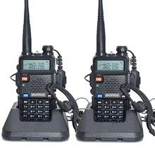 2 шт. baofeng уф-5r Walkie Talkie рации 128 Dual Band UHF & VHF 136-174 МГц и 400-520 МГц Baofeng УФ-5R портативна Рация 5 Вт Двухстороннее радио для рации рация баофенг uv-5r