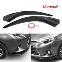 2Pcs Universal Car SUV Front Deflector Spoiler Splitter Diffuser Bumper Canard Lip Body Shovels Bumper Splitters