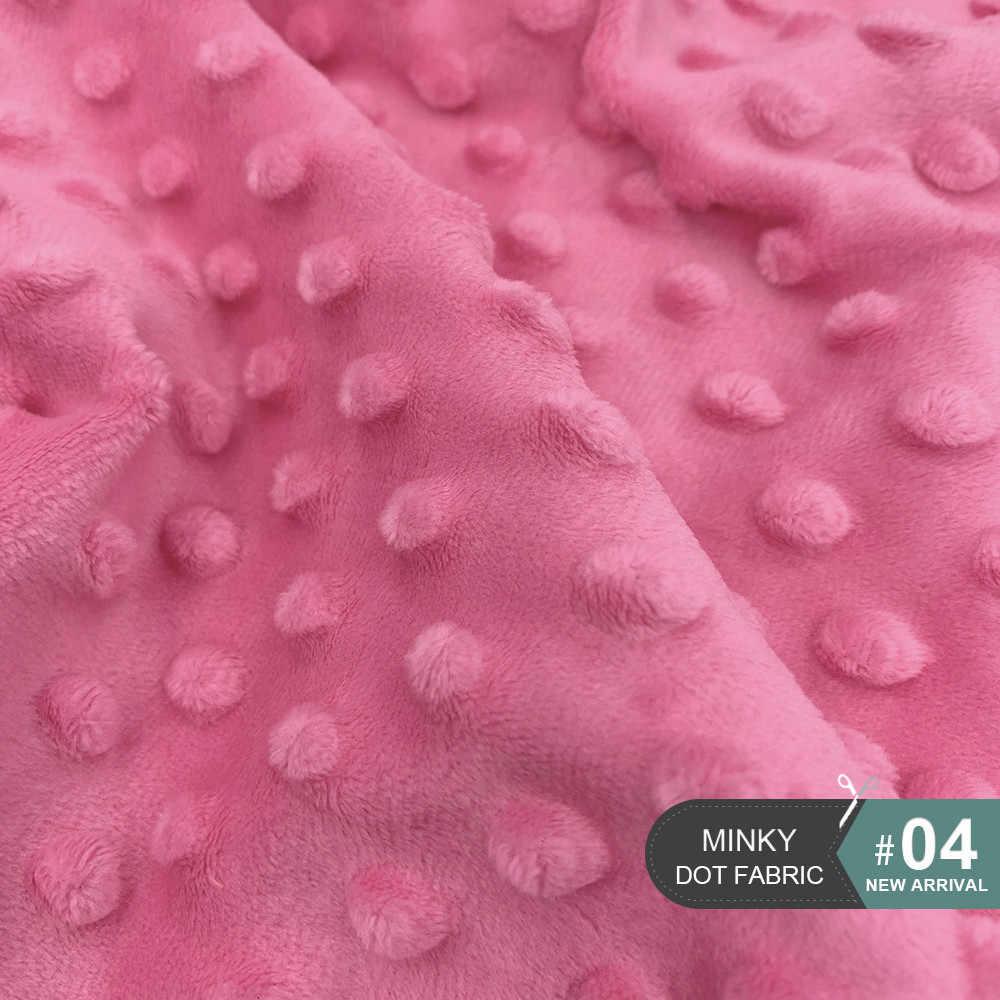 Yeni 45x45 cm 30 Renk Süper Yumuşak Minky puantiyeli kumaş El Işi Dikiş Çocuk Kış Giysileri Antipilling Peluş Kumaş Çevre Dostu