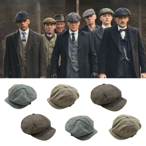2019 Fashion Unisex Women Men's Tweed Herringbone Newsboy Cap Cabbie Unisex Peaky Blinders Baker Women Cap Hat Men Winter Hat