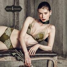 цены на BOTHYOUNG Sexy Lace Bralette Set Underwear Women's Thin Push Up Lingerie Set  Retro Bra Set  в интернет-магазинах