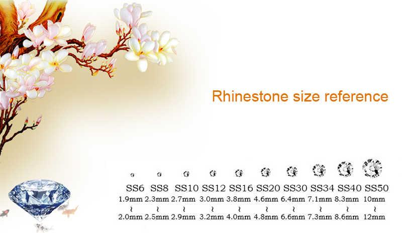 AAA + Vàng SS6-SS40 DMC HotFix Rhinestone Flatback Glass Iron-on Stones Đối Với Quần Áo may mặc giày dép túi xách nail jeans trang trí