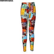 Women Leggings Black Pants Sexy Fashion Print 2016 Spring  leggins Milk Pattern
