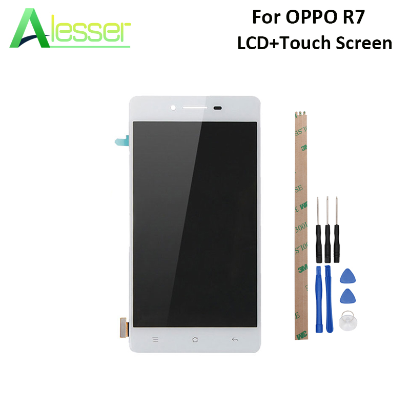 Alesser For OPPO R7 R7C R7T LCD Display And Touch Screen Screen Digitizer Assembly Replacement For OPPO R7 LCD +Tools +AdhesiveAlesser For OPPO R7 R7C R7T LCD Display And Touch Screen Screen Digitizer Assembly Replacement For OPPO R7 LCD +Tools +Adhesive