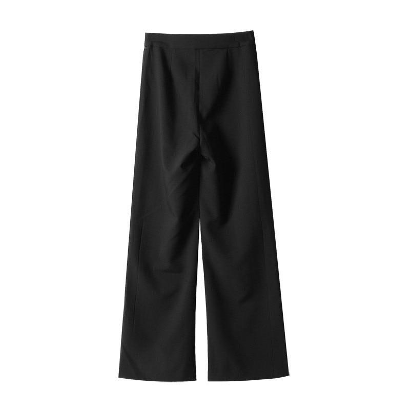 A Streetwear La Dei Black 2019 Primavera Alta Cinghia Per Twotwinstyle Con Abbigliamento Neri Femminili Diritti Moda Pantaloni Le Vita Donne Larga TqF0v6x
