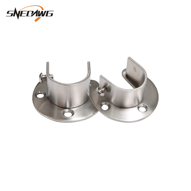 US $4 03 30% OFF|2pcs 25mm/32mm Pipe Flange Bracket Stainless Steel U Type  Flange Bracket Socket Wall Mount Cloth Rack Pipe Bracket -in Brackets from