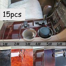 15 шт./компл. интерьер автомобиля на приборной панели панель для рычага переключения передач крышка наклейки отделка комплект для Toyota Highlander 2009- стайлинга автомобилей