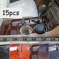 15 шт./компл. приборная панель для салона автомобиля  панель для рычага переключения передач  накладка  наклейки  комплект отделки для Toyota high ...