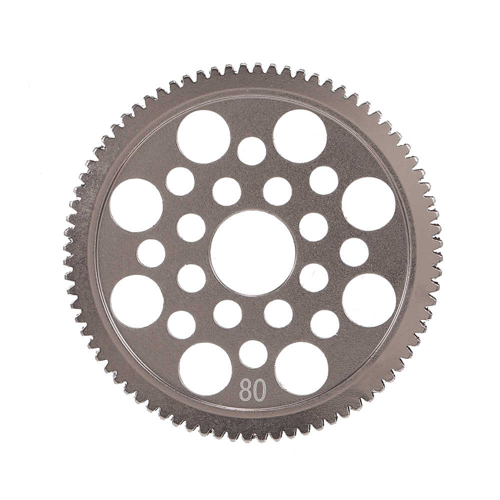 48DP 80T Metallo Spur Gear per 1/10 S CS R31 SCX10 RC Drift Car Racing Off-road Scalatore breve Camion Motore Ingranaggi A Pignone
