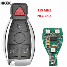 цена на 10pcs/lot Smart Remote Key 3+1Buttons  315 MHZ Keyless Fob For Mercedes Benz after 2000+ NEC&BGA replace NEC Chip