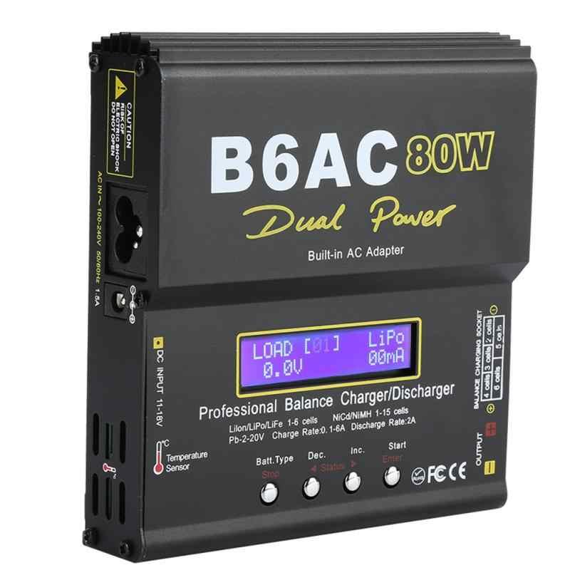 B6AC 80 Вт Цифровой ЖК-Баланс Зарядное устройство Dis зарядное устройство для Li-Ion Li-Po NiCd Ni-MH RC батарея Горячая