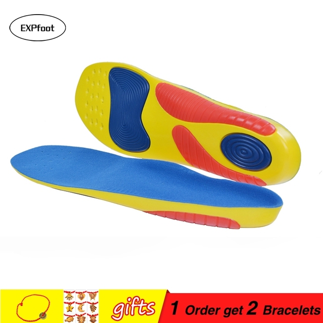 1e292e8603 EXPFoot PU and GEL Sport Insoles shock absorption pads sport shoes inserts  breathable insoles foot healthy foot care