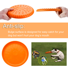 2019 Best selling 2pcs Pet toys New Large Dog Flying Discs Trainning Puppy Toy Rubber Fetch Flying Disc Frisby 23cm Dropshipping
