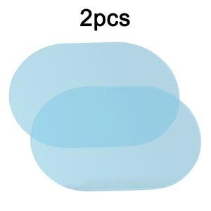 Image 1 - 1 par de película de niebla de agua Anti agua Nano revestimiento a prueba de lluvia espejo retrovisor ventana película protectora