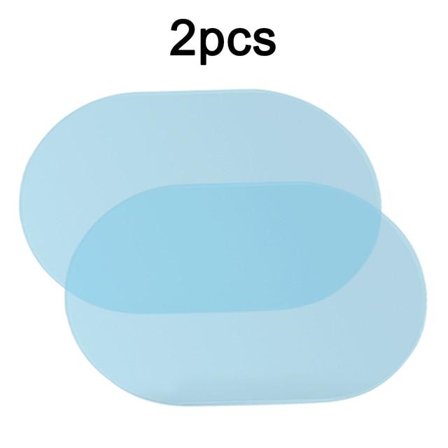 1 par de película de niebla de agua Anti agua Nano revestimiento a prueba de lluvia espejo retrovisor ventana película protectora