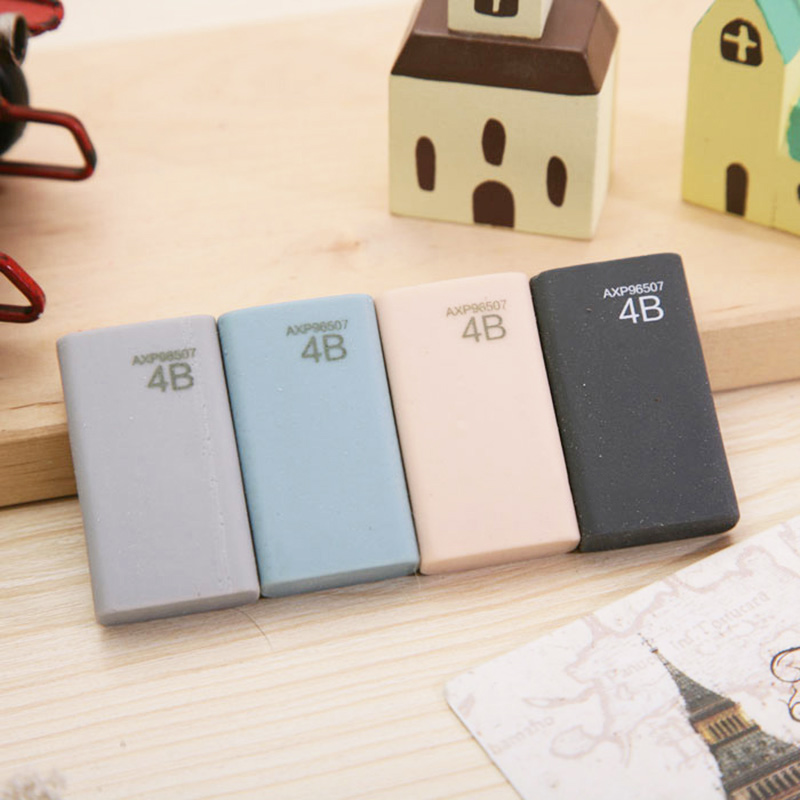 Creative Colored Professional Examination Art Drawing Eraser Kawaii 4B Rubber Eraser School Eraser Stationery For Kids Gift