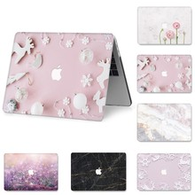 for MacBook 11 12 13 15 inch Case A1706 1466 A1425 A1278 A1460 Protective Cover Floral Painted Full Cover Laptop Case for MacBoo