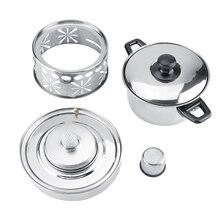 Толстая нержавеющая сталь горячий горшок посуда немагнитная спиртовая плита посуда