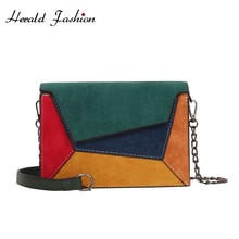 Herald Fashion Chain Women Messenger Bag Quality Leather Fem