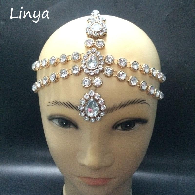 Hc 102 Diamante Head Band Hair Jewelry Wedding Bridal Head Jewelry